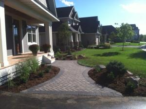 Deer Run Golf Course paver front entry